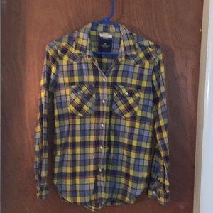 Tops - AE button up plaid shirt xsmall